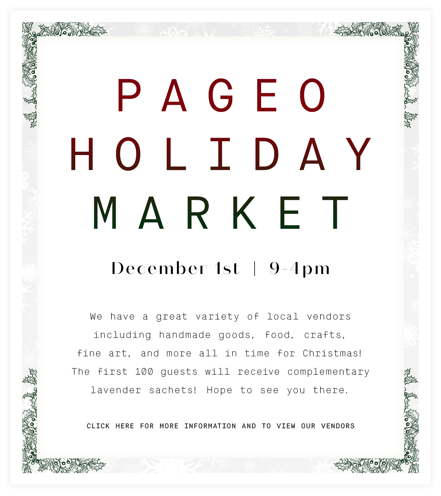 Pageo Holiday Market